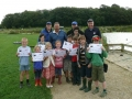 Junior Anglers receiving certificates are their angling lesson