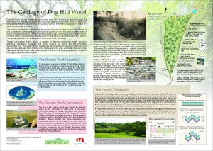 Dog Hill Wood, Ledbury, interpretation board