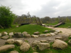 Natural play area at Severn Valley Country Park