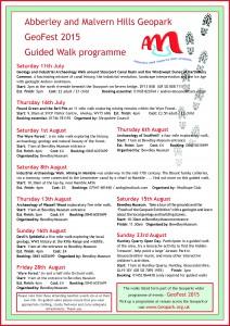 GeoFest 2015 guided walks