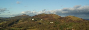 The Malvern Hills ridgeline