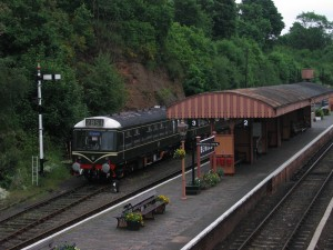 Bewdley Station rock cutting