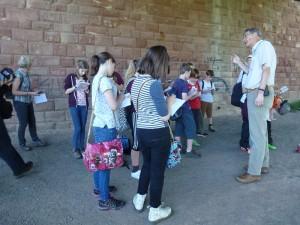 Mike Preston encourages the pupils