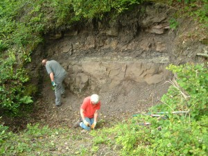 Geological conservation volunteering with Gloucestershire Geology Trust