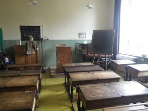 Victorian schoolroom at Worcestershire County Museum
