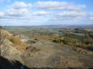 Shavers End Quarry as viewed from Abberley Hill